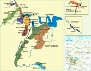 Map Of Germany With Regions.101 The Big Wine Regions Of Germany And What They Produce Wine